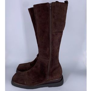 FRYE | Tall Brown Avenger Zip Leather Boots